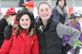 """Besties"" skating together on Sunday afternoon were Jada Yule (left) and Avery Schultz."