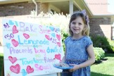 5-year-old Lyric Brighton held a bake sale on Saturday morning with all the proceeds going to the Tavistock Public School Playground Fundraising campaign.